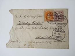 Schweiz 1885 MiF Nach Arnstadt / Thüringen. 4 Stempel - Covers & Documents