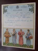TELEGRAM Voor Backeljau Buelens / Louis Jeanne - Verzonden 1955 Te Boom - Puurs / Belgique - Belgium !! - Faire-part