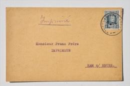 CARTE POSTALE De Georges MIESSE, Papiers & Cartons, à BLATON Vers M. Frère, Imprimeur à HAM-SUR-HEURE, 1927 - Bernissart