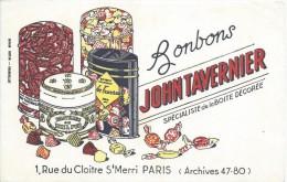 Bonbons / John Tavernier/ Rue Du Cloitre St Merry/Paris /vers 1945-1955     BUV139 - Sucreries & Gâteaux