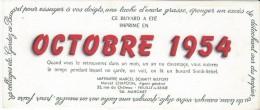 Bureau/ Imprimerie  Marcel Schmitt/BELFORT/ Octobre 1954: Neuilly /vers 1945-1955     BUV144 - Buvards, Protège-cahiers Illustrés