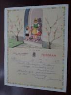 TELEGRAM Voor Bakeljau Buelens / Louis Jeanne / Verzonden 1955 Te Puurs Hemiksem / Belgique - Belgium !! - Faire-part