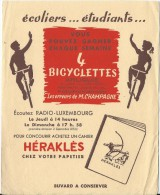 Cahier Heraklés/ Bicyclettes Arliguie/ Radio Luxembourg//vers 1945-1955     BUV147 - Stationeries (flat Articles)