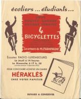 Cahier Heraklés/ Bicyclettes Arliguie/ Radio Luxembourg//vers 1945-1955     BUV147 - Papeterie