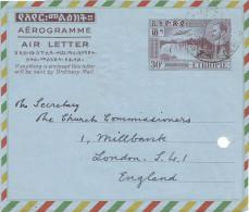 Ethiopia 1959 Addis Abeba 30c Air Letter Aerogramme Front Only - Ethiopië