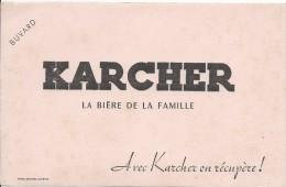 Karcher / La Biére De La Famille / Avec Karcher On Récupére !/vers 1945-1955     BUV150 - Liquor & Beer