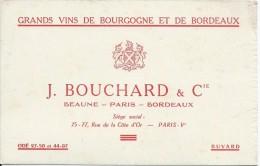 Vins De Bourgogne Et De Bordeaux / J Bouchard Et Cie / Beaune / Paris / Bordeaux / Vers 1945-1955     BUV153 - Liquor & Beer