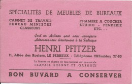 Ameublement/ Henri Pfitzer/Spécialité De Maubles De Bureaux / Le PERREUX / Vers 1945-1955     BUV154 - Buvards, Protège-cahiers Illustrés