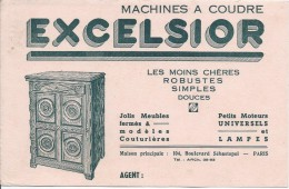 Machine à Coudre/ Excelsior/Les Moins Chéres /Paris  / Vers 1945-1955     BUV155 - Kleding & Textiel