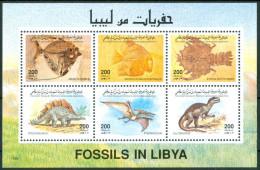 1996 Libia Fossili Fossil Fossiles Block MNH** -V7 - Libya
