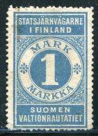 Russia Finland 1891 State Railways (VR) 1 Mark Railway Parcel Eisenbahn Paketmarke Chemin De Fer Colis Russie Russland - Trenes