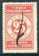 Russia Finland 1898 State Railways (VR) 25 Penni Railway Parcel Eisenbahn Paketmarke Chemin De Fer Colis Russie Russland - Trenes
