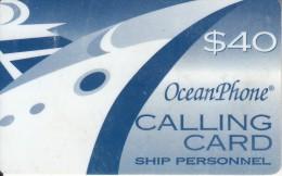 PUERTO RICO - Oceanphone By Teledebit Satelite Prepaid Card $40 Exp.date 31/12/99, Used