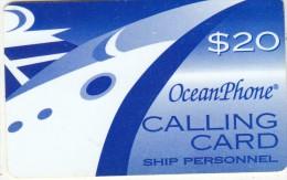 PUERTO RICO - Oceanphone By Teledebit Satelite Prepaid Card $20 Exp.date 31/12/00, Used - Puerto Rico