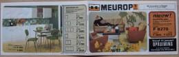 Oude Publiciteit Van Firma MEUROP  - Jaar 1971  - Meubels - Vintage - Oude Documenten