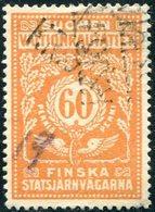 Finland 1918 State Railways (VR) 60 Penni # 44 B Railway Parcel Freight Eisenbahn Paketmarke Fracht Chemin De Fer Colis - Trains