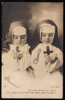 Carte Photo 2 RELIGIEUSES PETITES FILLES - TWO CHILD NUNS - RARE - NUN - SOEUR - Abbildungen