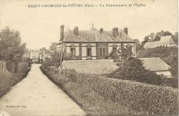 Saint-Georges-du-Vièvre (27) - La Gendarmerie Et L'Eglise - Francia