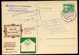 KOLLOQUIUM BAUSCHÄDEN DDR P84-20-86 C150 Postkarte Zudruck Weimar 1986 - Architektur