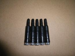 5 Cartouches à Blanc Noires Cal 5,56mm - Equipement