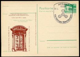 OBERTRIKOTAGEN Apolda 1983 Auf DDR P84-8-83 C20-a Postkarte Zudruck Haus Markt - Textil