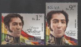 BOLIVIA ,2013,  MNH, SIMON BOLIVAR, EL LIBERTADOR, HISTORICAL FIGURES,2v - Famous People