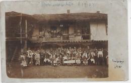 MACEDOINE - Groupe De Personnes - 1910 - CARTE PHOTO - Macédoine