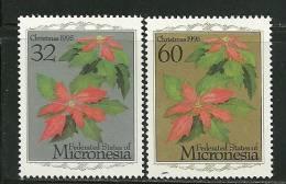 "Micronesia    ""Christmas 1995 Flowers""    Set    SC# 234-35  MNH** - Christmas"