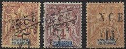 NOUVELLE-CALEDONIE -3 Valeurs Neuves De 1892-93 - Nouvelle-Calédonie