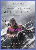 POSTCARD FILM CINEMA POSTER POSTCARD For The Film  ALL IS LOST With ROBERT REDFORD - Manifesti Su Carta