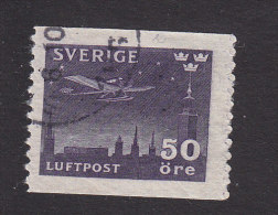 Sweden, Scott #C7, Used, Airplane Over Stockholm, Issued 1930
