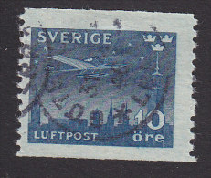 Sweden, Scott #C6, Used, Airplane Over Stockholm, Issued 1930