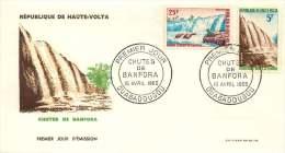 HAUTE-VOLTA  1964  Chutes De Banfora  - Waterfalls  - FDC Non Adressé - Haute-Volta (1958-1984)