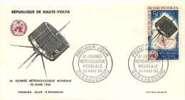 HAUTE-VOLTA  1966- Journée Météorologique Mondiale - Satellite - Poste Aérienne - FDC Non Adressé - Haute-Volta (1958-1984)