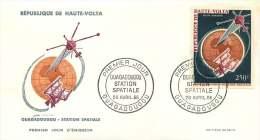 HAUTE-VOLTA  1966- Station Spatiale De Ouagadougou Space Poste Aérienne - FDC Non Adressé - Upper Volta (1958-1984)