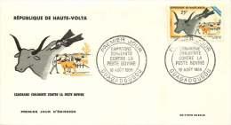 HAUTE-VOLTA  1966- Campagne Contre La Peste Bovine  - FDC Non Adressé - Haute-Volta (1958-1984)