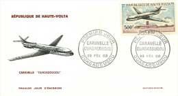 1968 - Avion Caravelle - Airplane - Poste Aérienne - FDC Non-adressé - Haute-Volta (1958-1984)