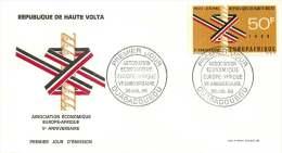 1968 - Europafrique  - FDC Non-adressé - Haute-Volta (1958-1984)