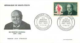 1968 - Sir Winston Churchill - Poste Aérienne - FDC Non-adressé - Haute-Volta (1958-1984)