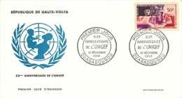 1965 - 20è Ann. UNICEF - FDC Non-adressé - Haute-Volta (1958-1984)