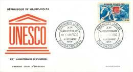 1965 - 20è Ann. UNESCO  - FDC Non-adressé - Haute-Volta (1958-1984)