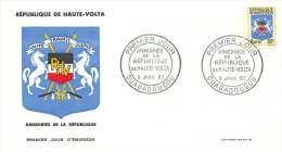 1967 - Armoiries   - FDC Non-adressé - Haute-Volta (1958-1984)