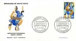 1967 - Europafrique    - FDC Non-adressé - Haute-Volta (1958-1984)
