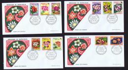 1963 -  Série Florale Série Complète Sur 7 FDC Non-adressé S - Haute-Volta (1958-1984)