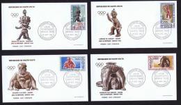 1968 -  Jeux Olympiques De Mexico   Poste Aérienne  - 4  FDC Non-adressés - Haute-Volta (1958-1984)