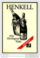 Reklame Werbeanzeige  -  Sekt Henkell Trocken  ,  Eine überlegte Wahl  ,  Von 1971 - Alkohol