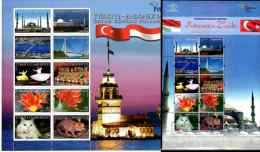2008 Friendship Of Indonesia And Turkey - 2 Sheetlets - Cats Of Both Countries - Paper - MNH** - Chats Domestiques