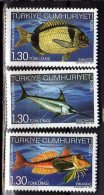 2011 Turkey - Fishes In Our Sea - Set Of 3 V Paper - MNH** - Nuevos