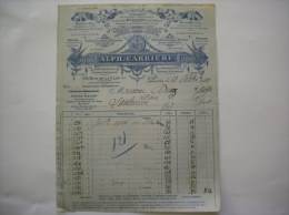 PARIS ALPH. CARRIERE EDITEUR EDITIONS MILITAIRES CARTES POSTALES.....54 RUE DE LA CLEF Ve FACTURE DU 13 OCTOBRE 1934 - Imprimerie & Papeterie
