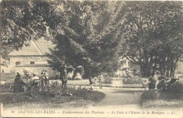 CPA Luxeuil Les Bains Etablissement Des Thermes  Le Parc à L'heure De La Musique - Luxeuil Les Bains